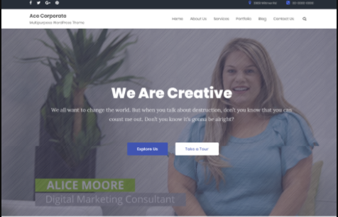 Ace Corporate Pro Theme - Demo 1 | Yudlee Themes