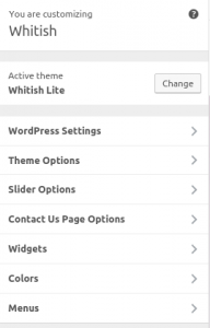 whitishlite-wordpresssettings