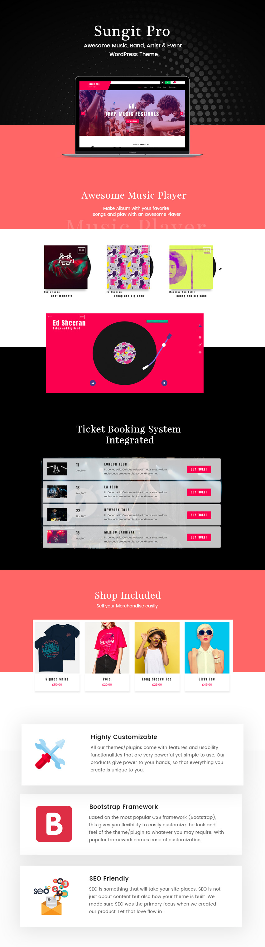 Premium Music WordPress Theme - Sungit - Yudlee Themes