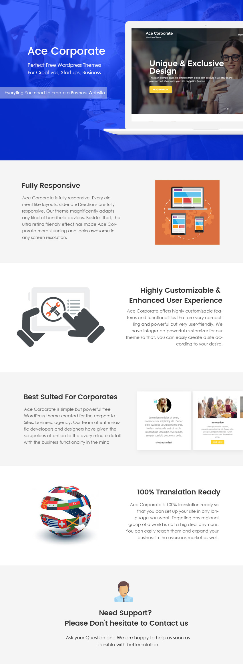 Ace Corporate WordPress Theme