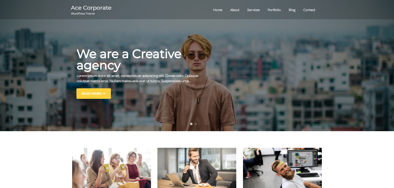 Ace Corporate Free theme