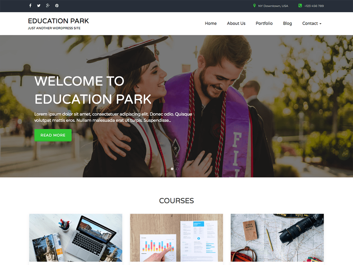 Education Park Free theme