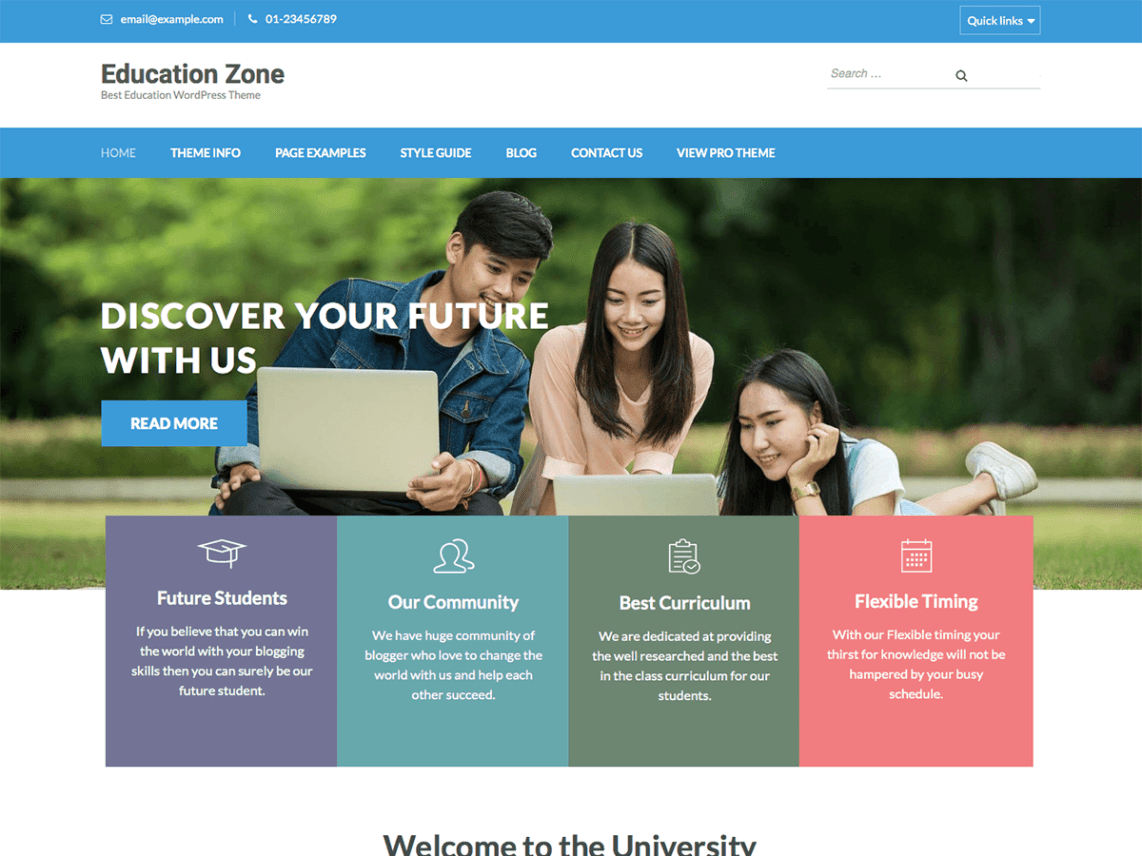 Education Zone Free Theme