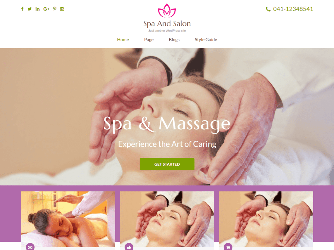 Spa and Salon Free theme