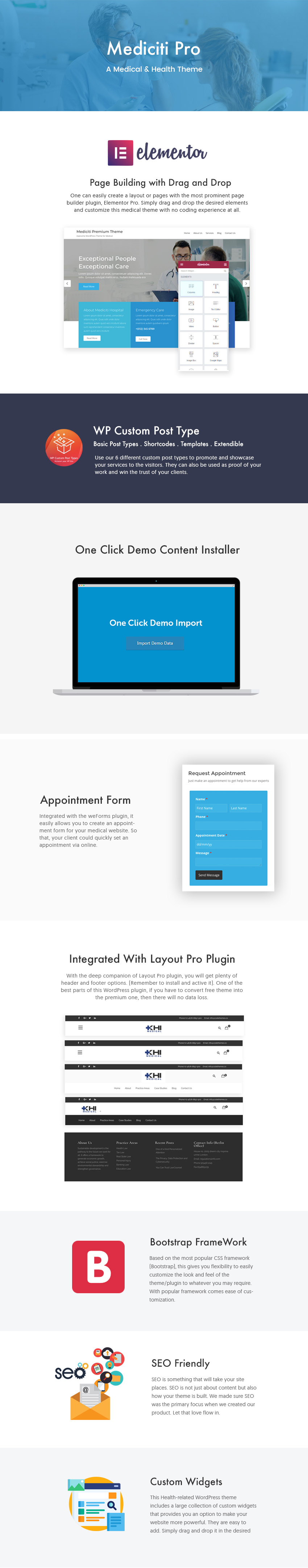 mediciti-pro-theme-features