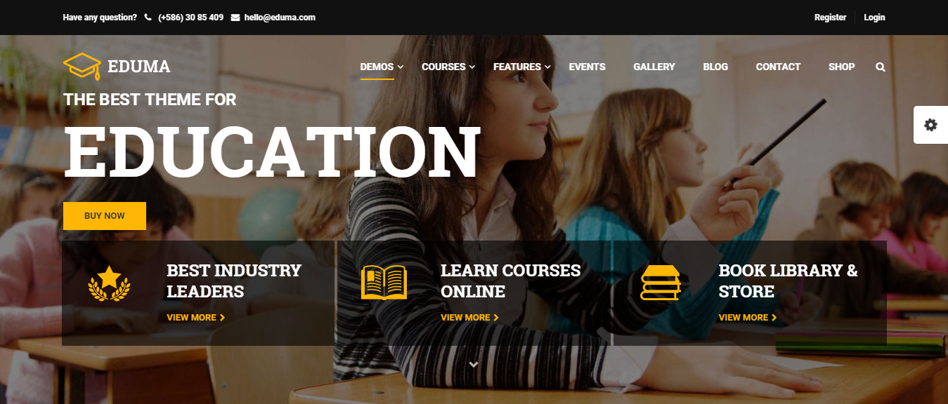education WordPress theme, education WP