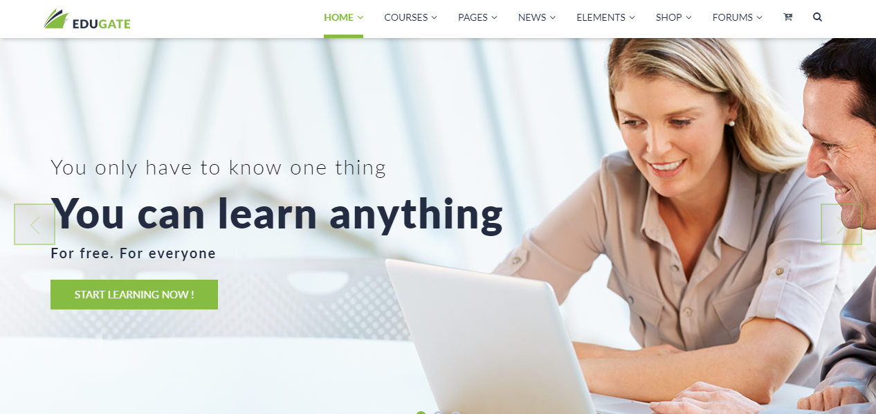 education WordPress themes, Edugate