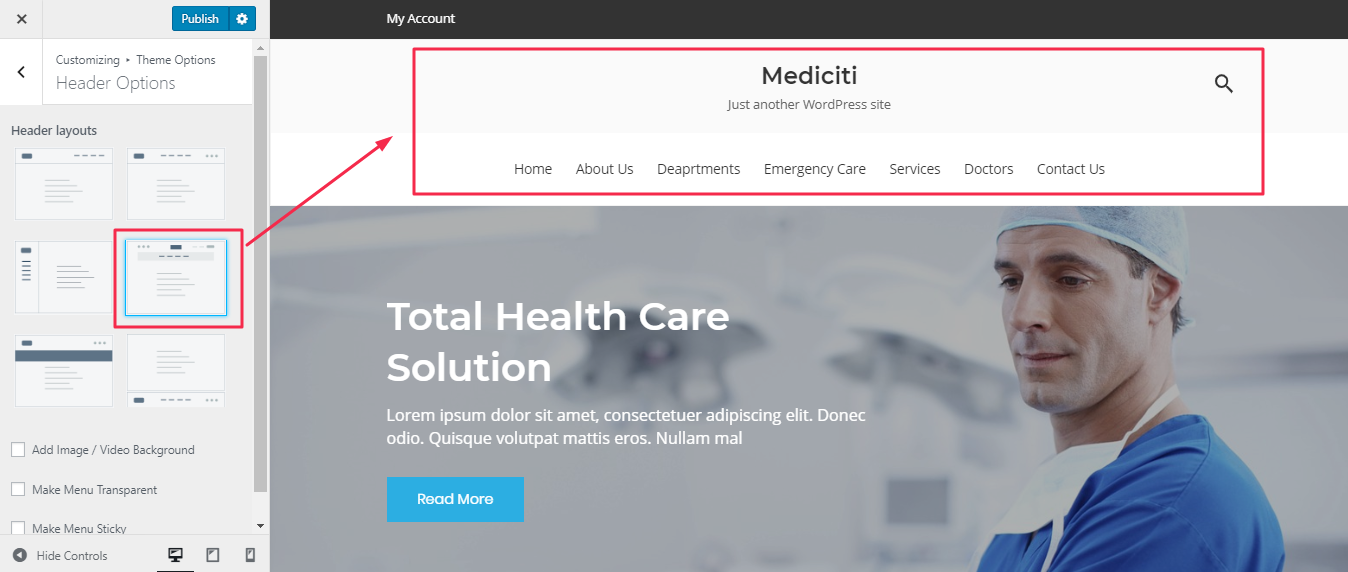 Premium medical WordPress themes for hospitals