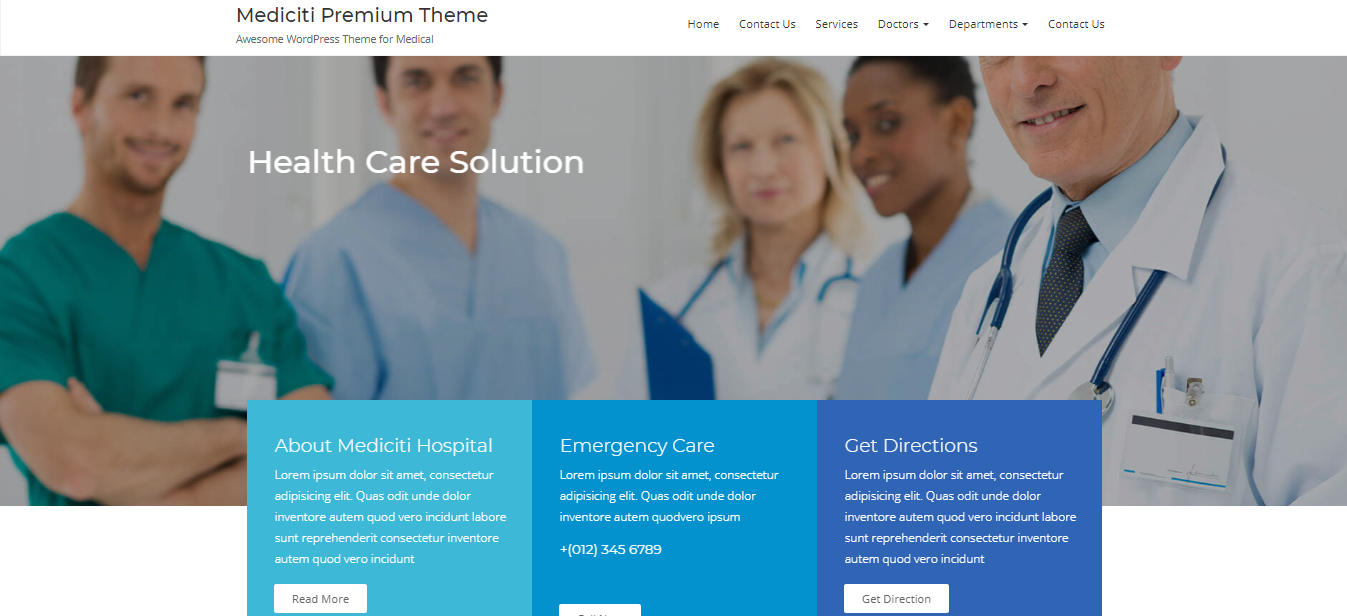 Premium health and medical WordPress theme