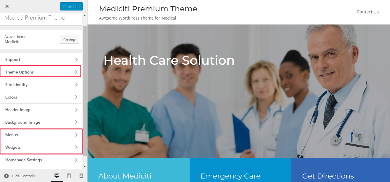 Premium Health and Medical WordPress themes, Mediciti