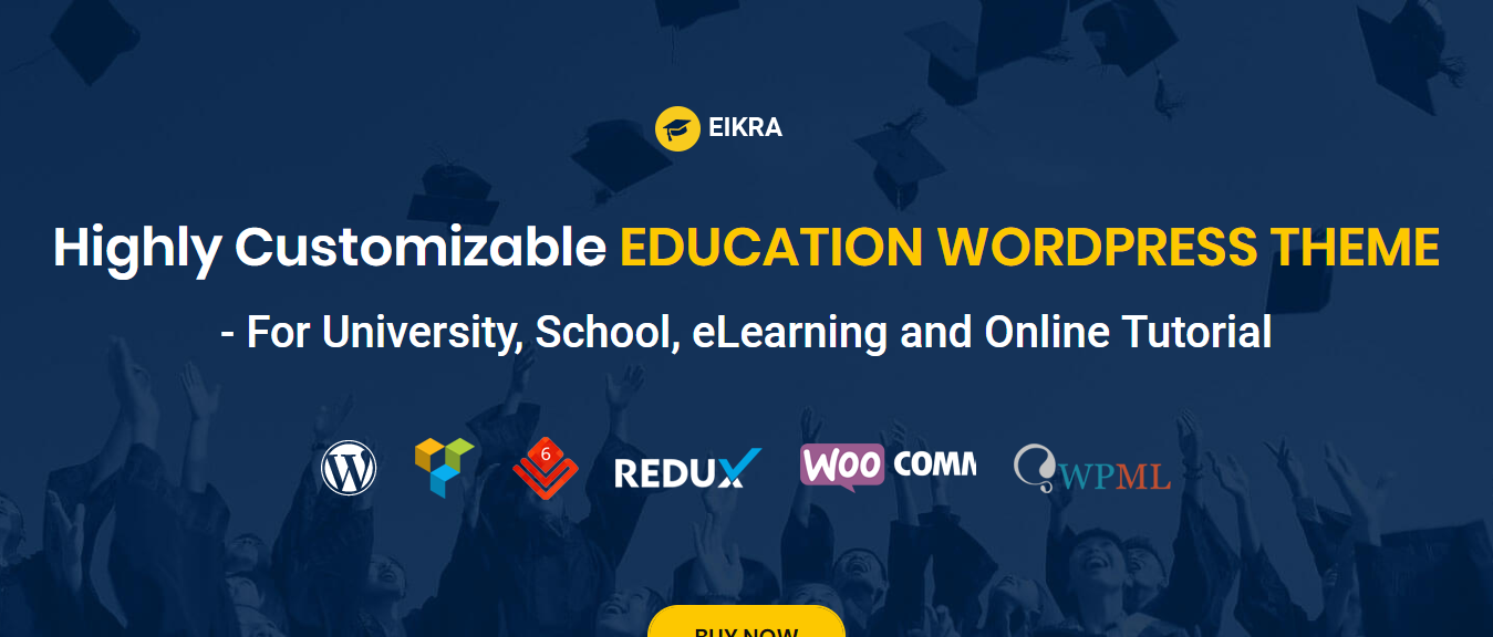 WordPress theme for eduation, Eikra