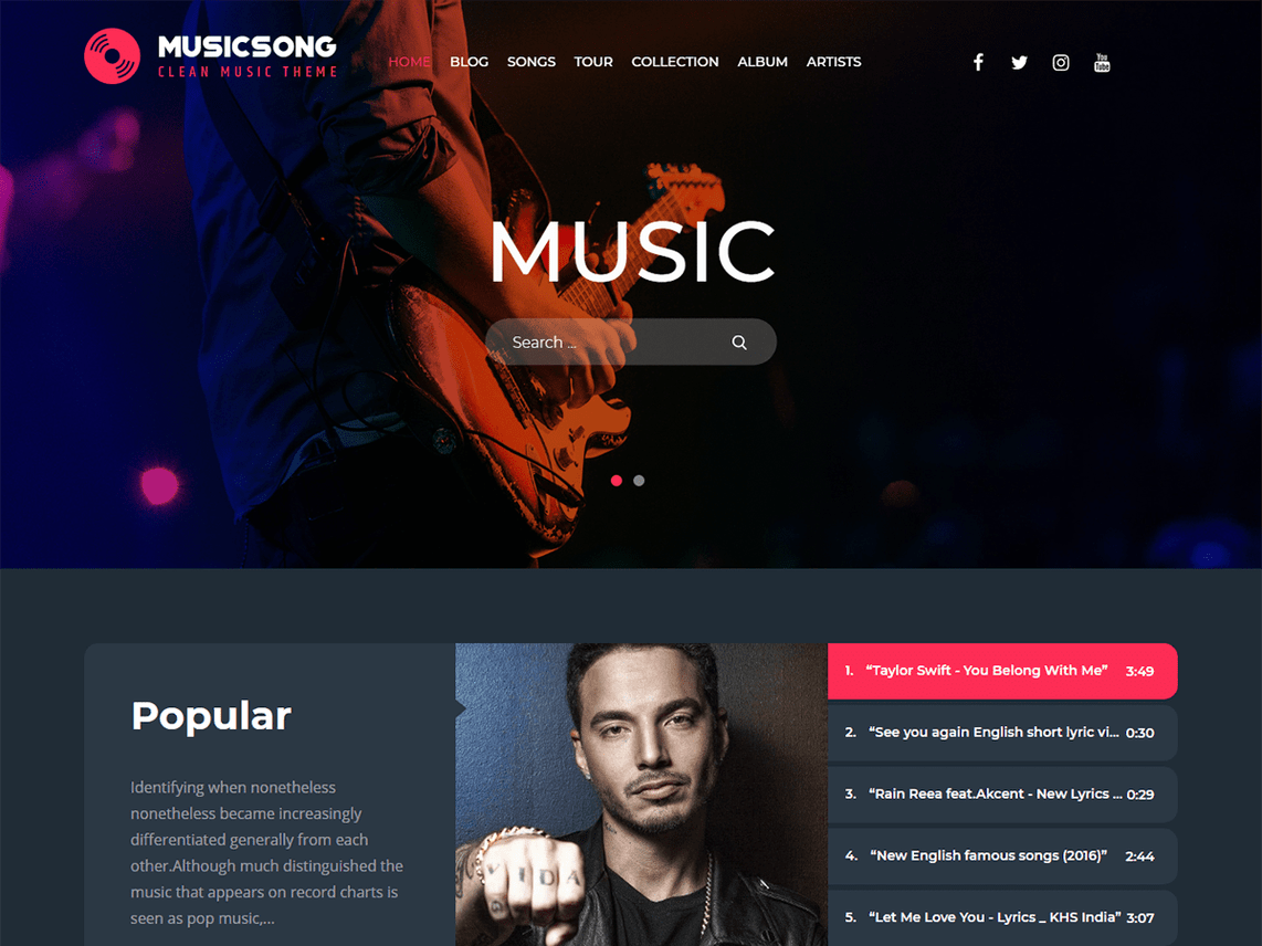 Musicsong-free-responsive-music-business-WordPress-theme-Yudlee-themes