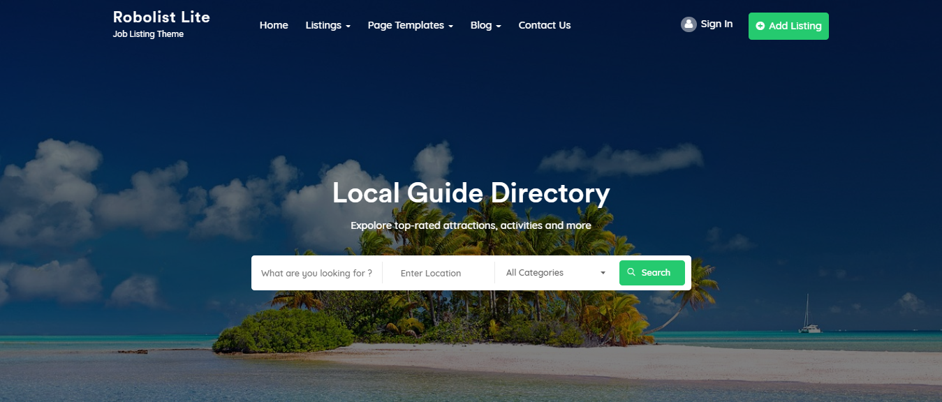 Free WordPress themes, Free WordPress themes for directory listing