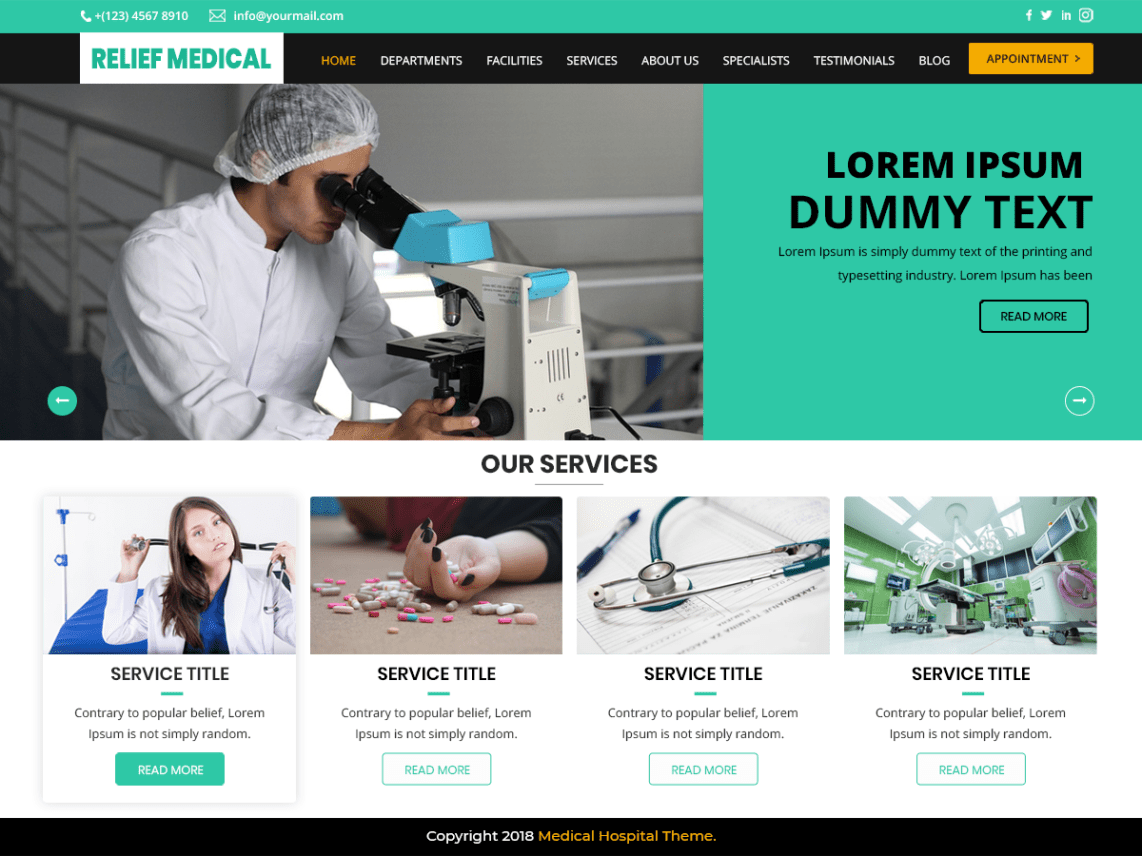 Relief-Medical-Hospital-free-WordPress-resposnive-Yudlee-themes