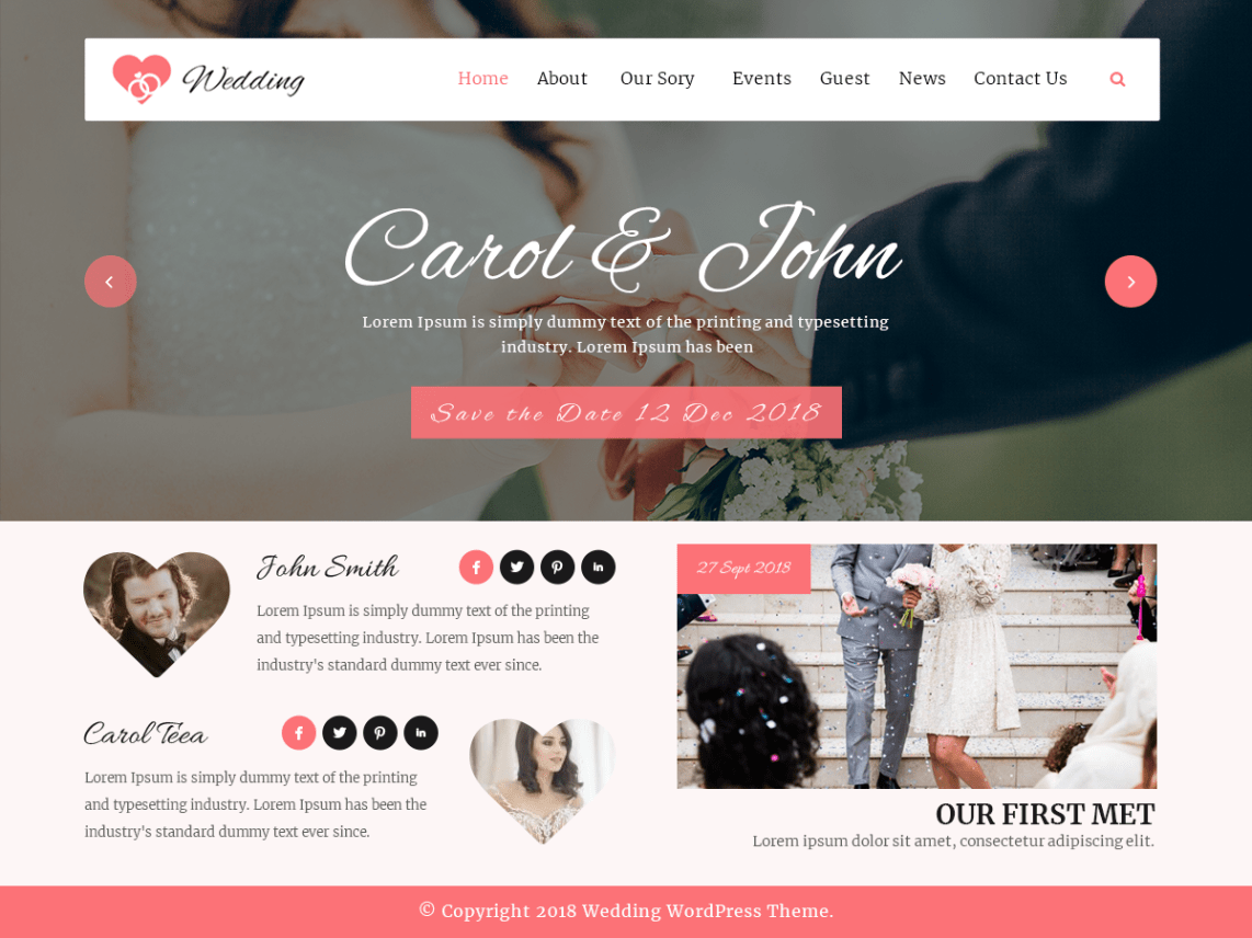 VW-wedding-free-WordPress-Yudlee-themes