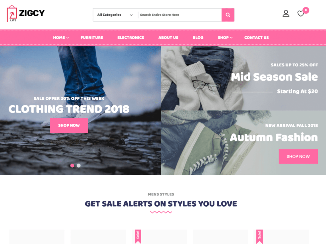 Zigcy-Baby-best-free-eCommerce-responsive-WordPress-themes-Yudleethemes